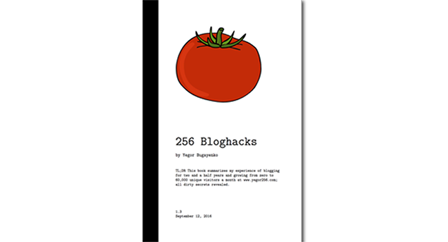256 Bloghacks - cover of the book